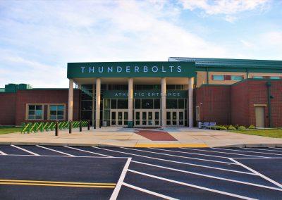 Northmont High School Athletic Main Entrance ,Brumbaugh Engineering & Surveying, LLC, Construction Layout, Construction Staking, Civil Engineering, Dayton OH