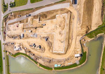 Powell Senior Living Center , Powell , OH ,Brumbaugh Engineering & Surveying, LLC, Construction Layout, Construction Staking, Civil Engineering , Dayton OH