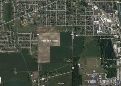 Piqua Solar Field, Piqua, OH, Brumbaugh Engineering & Surveying, LLC, Construction Layout, Construction Surveying, Civil Engineering, Dayton OH