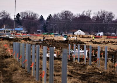 Piqua Solar Field, Piqua, OH Brumbaugh Engineering & Surveying, LLC, Construction Layout, Construction Staking, Civil Engineering, Dayton OH, Construction Layout, Construction Staking, Civil Engineering