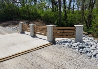 John Wolfe Park Dam Trotwood, OH, Brumbaugh Engineering & Surveying, LLC, Construction Layout, Construction Staking, Civil Engineering, Dayton OH