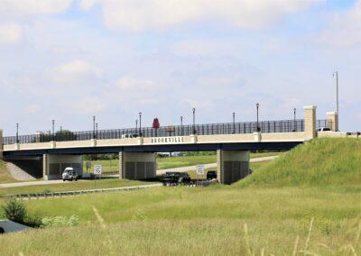 ODOT I70 Bridge Replacement, Brookville OH , Brumbaugh Engineering & Surveying, LLC, Construction Layout, Construction Staking, Civil Engineering, Dayton OH