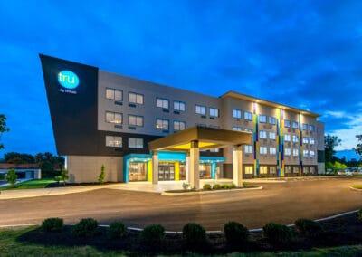 Tru by Hilton ,Huber Heights OH, Brumbaugh Engineering & Surveying, LLC , Dayton, OH , Construction Layout, Construction Staking, Civil Engineering