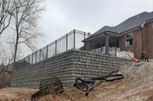 Retaining wall , Brumbaugh Engineering & Surveying, LLC Construction Layout, Civil Engineering ,Construction Staking, Dayton, OH