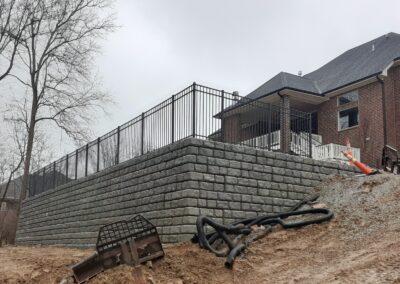 Retaining wall , Brumbaugh Engineering & Surveying, LLC Construction Layout, Civil Engineering ,Construction Staking, Dayton, OH